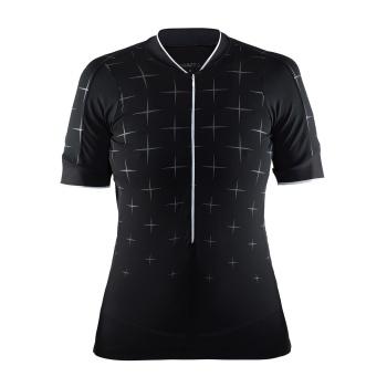 Craft Belle Glow Shirt met Korte Mouwen voor Vrouwen Zwart/Wit 2018