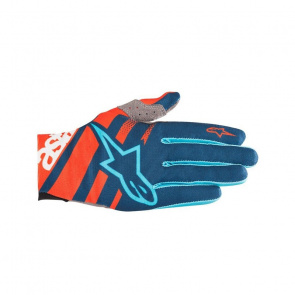 Alpinestars Gants Alpinestars Racer Orange Energy/Bleu Poseidon 2018