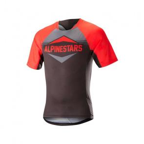 Alpinestars Maillot Manches Courtes Alpinestars Mesa Rouge/Gris Steel 2018