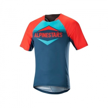 Maillot Manches Courtes Alpinestars Mesa Orange Energy/Bleu Poseidon 2018