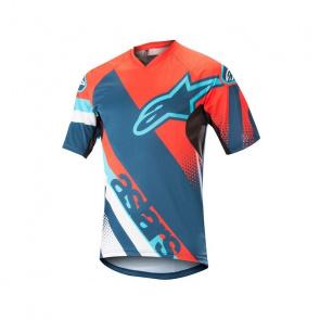 Alpinestars Alpinestars Racer Shirt met Korte Mouwen Energy Oranje/Poseidon Blauw 2018