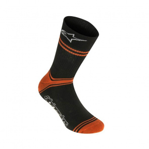 Alpinestars Chaussettes Alpinestars Summer Noir/Orange Bright 2018