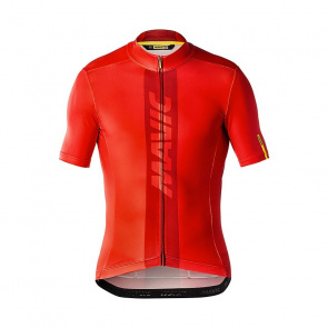 Mavic textile Maillot Manches Courtes Mavic Cosmic Gradiant Rouge Fiery 2018