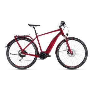 Cube - 2018 Cube Touring Hybrid EXC 500 Elektrische Fiets Donkerrood 2018