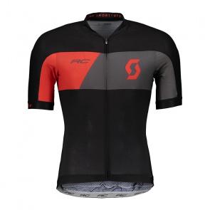 Scott textile Maillot Manches Courtes Scott RC Premium Noir/Rouge Fiery 2018