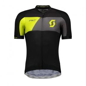 Scott textile Scott RC Premium Pro Tec Shirt met Korte Mouwen Zwart/Sulphur Geel 2018