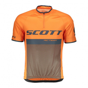 Scott textile Maillot Manches Courtes Scott RC Team 20 Orange Mandarine/Bleu Nightfall 2018
