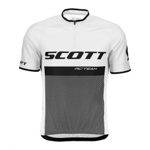 Scott textile Maillot Manches Courtes Scott RC Team 20 Blanc 2020