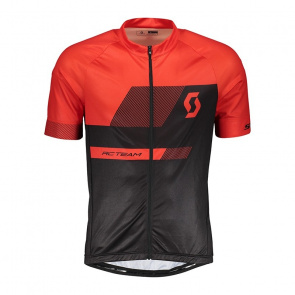 Scott textile Maillot Manches Courtes Scott RC Team 10 Noir/Rouge Fiery 2018