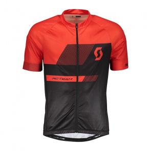 Scott textile Scott RC Team 10 Shirt met Korte Mouwen Zwart/Fiery Rood 2018
