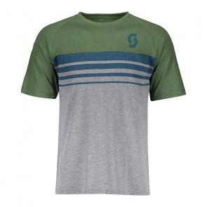 Scott textile Scott Trail 80 DRI Shirt met Korte Mouwen Donkergrijs/Donkergroen 2018