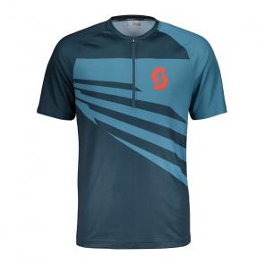 Scott textile Scott Trail 10 Shirt met Korte Mouwen Nightfall Blauw/Larkspur Blauw 2018