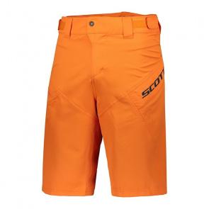 Scott textile Short avec peau Scott Trail 50 Orange Mandarine 2018