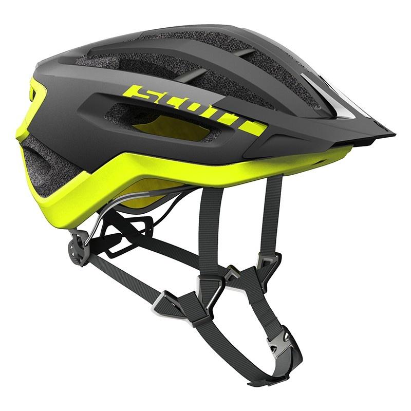 Scott Fuga Plus MTB Helm Zwart/Geel 2018