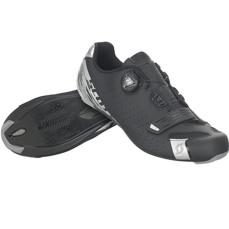 Chaussures Route Scott Comp Boa Noir Mat/Argent 2021