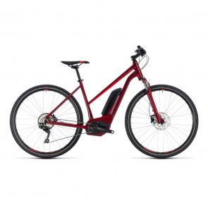 Cube - Promo Vélo Electrique Cube Cross Hybrid Pro 400 Trapèze Rouge Foncé 2018