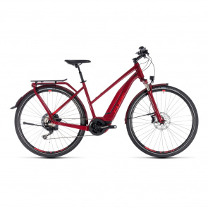 Cube - Promo Cube Touring Hybrid EXC 500 Trapezium Elektrische Fiets Donkerrood 2018 (131201)