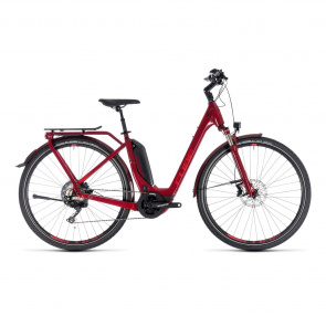 Cube - 2018 Cube Touring Hybrid EXC 500 Easy Entry Elektrische Fiets Donkerrood 2018