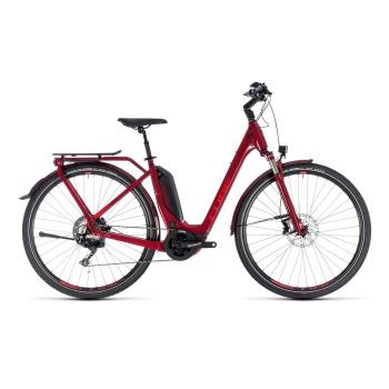 Vélo Electrique Cube Touring Hybrid EXC 500 Easy Entry Rouge Foncé 2018 (131201)