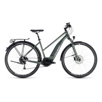 Vélo Electrique Cube Touring Hybrid One 500 Trapèze Vert/Argent 2018 (131111)