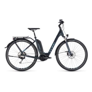 Vélo Electrique Cube Touring Hybrid Pro 400 Easy Entry Bleu Foncé 2018 (131160)