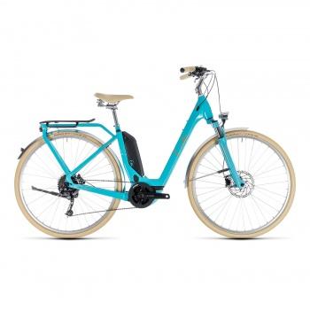 Vélo Electrique Cube Elly Ride Hybrid 500 Easy Entry Aqua/Orange 2018 (132501)