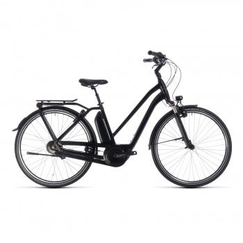Vélo Electrique Cube Town Hybrid Pro 400 Trapèze Noir/Gris 2018 (132200)
