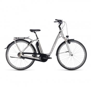 Vélo Electrique Cube Town Hybrid EXC 500 Easy Entry Argent/Blanc 2018