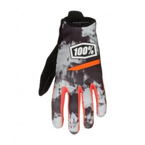 100% 100% Ridecamp Handschoenen Tie-dye Grijs 2018