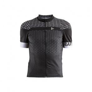 Craft Maillot Manches Courtes Craft Route Noir/Blanc 2018