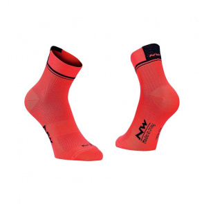 Northwave Chaussettes Northwave Logo 2 Orange/Noir 2018