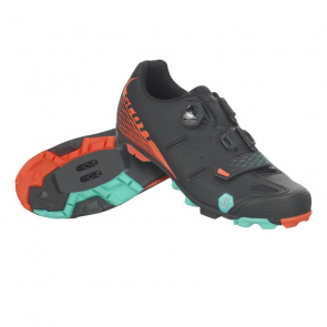 Scott textile Chaussures VTT Scott Elite Boa Noir Mat/Orange 2019