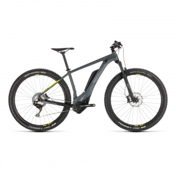 "VTT Electrique 29"" Cube Reaction Hybrid Race 500 Gris/Jaune 2019 (234150)"
