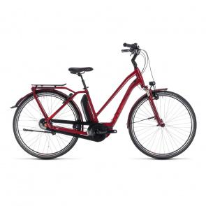 Cube - Promo Vélo Electrique Cube Town Hybrid Pro 400 Trapèze Rouge 2018