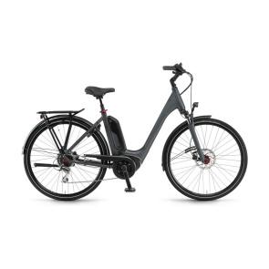 Winora 2021 Vélo Electrique Winora Tria 8 400 Easy Entry Gris Foncé Mat 2021  (44225089)