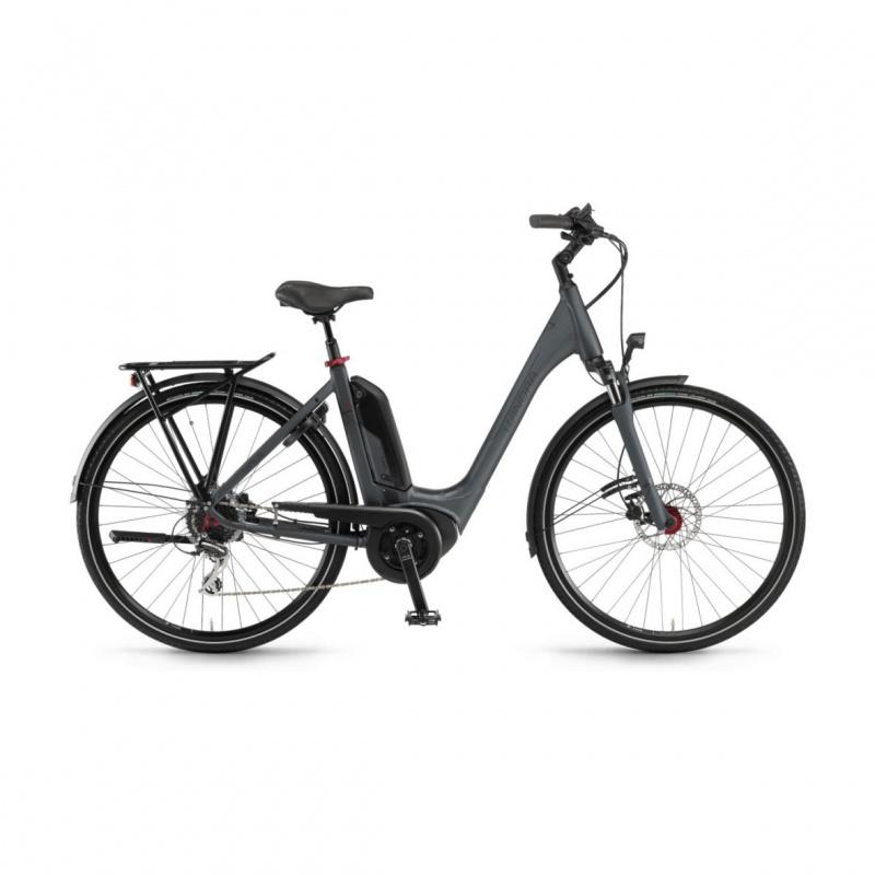 Vélo Electrique Winora Sinus Tria 8 400 Easy Entry Gris Foncé Mat 2020 (44225089)