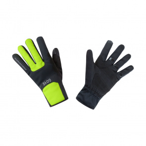Gore Bike Wear Gants Gore Wear Windstopper Thermo Noir/Jaune Néon 2018-2019