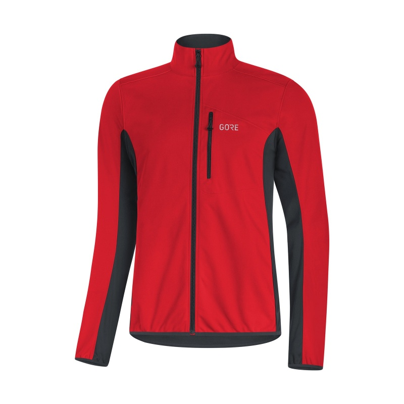 Gore Wear C3 Classic Thermo Jas Rood/Zwart 2018-2019