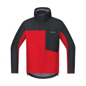 Gore Bike Wear Veste Gore Wear C3 Gore-Tex Paclite Hooded Rouge/Noir 2018-2019