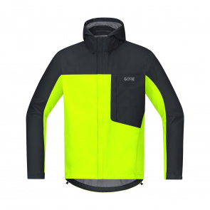Gore Bike Wear Veste Gore Wear C3 Gore-Tex Paclite Hooded Jaune Néon/Noir 2018-2019
