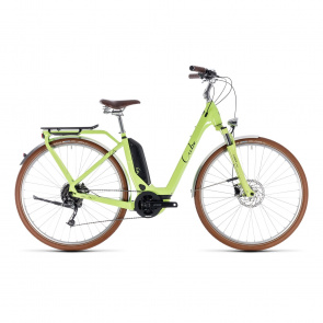 Cube 2019 Vélo Electrique Cube Elly Ride Hybrid 500 Easy Entry Vert/Noir 2018 (132511)