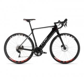 Vélo de Course Electrique Cube Agree Hybrid C:62 Race Disc Carbone/Blanc 2019 (239040)