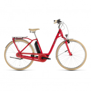 Cube - Promo Vélo Electrique Cube Elly Cruise Hybrid 400 Easy Entry Rouge/Menthe 2019