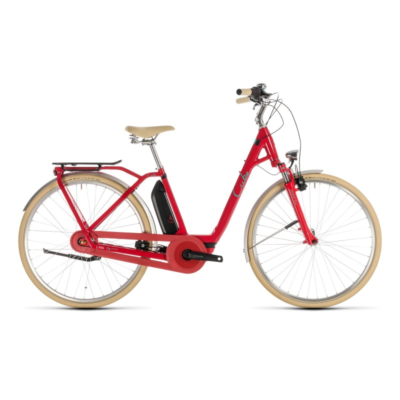 Vélo Electrique Cube Elly Cruise Hybrid 400 Easy Entry Rouge/Menthe 2019 (232610)