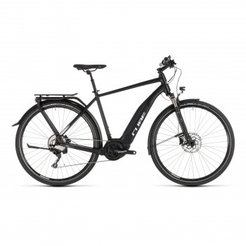 Vélo Electrique Cube Touring Hybrid Pro 500 Noir/Blanc 2019 (231150)