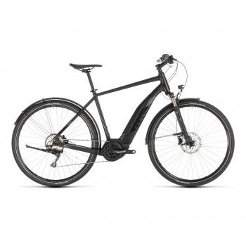 Vélo Electrique Cube Cross Hybrid EXC Allroad 500 Noir/Gris 2019 (230160)