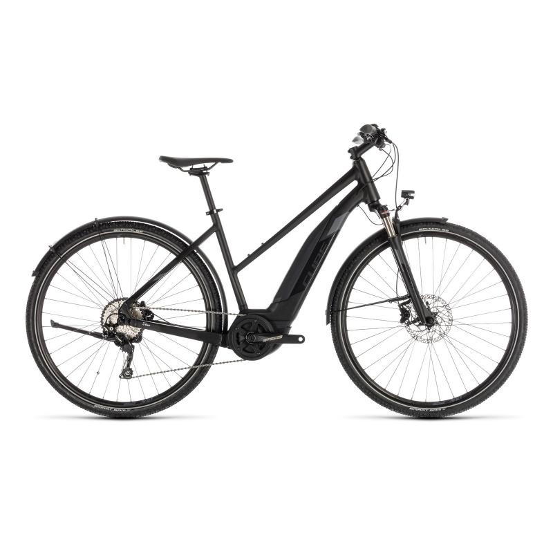 Vélo Electrique Cube Cross Hybrid EXC Allroad 500 Trapèze Noir/Gris 2019 (230160)