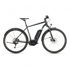 Cube - Promo Vélo Electrique Cube Cross Hybrid Pro Allroad 500 Iridium/Vert 2019 (230251)