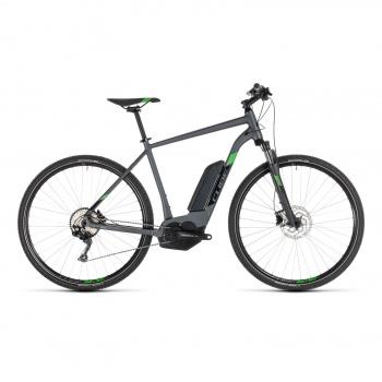 Vélo Electrique Cube Cross Hybrid Pro 500 Iridium/Vert 2019 (230201)