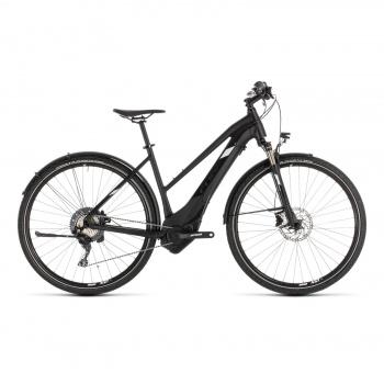 Vélo Electrique Cube Cross Hybrid Race Allroad 500 Trapèze Noir/Blanc 2019 (230300)